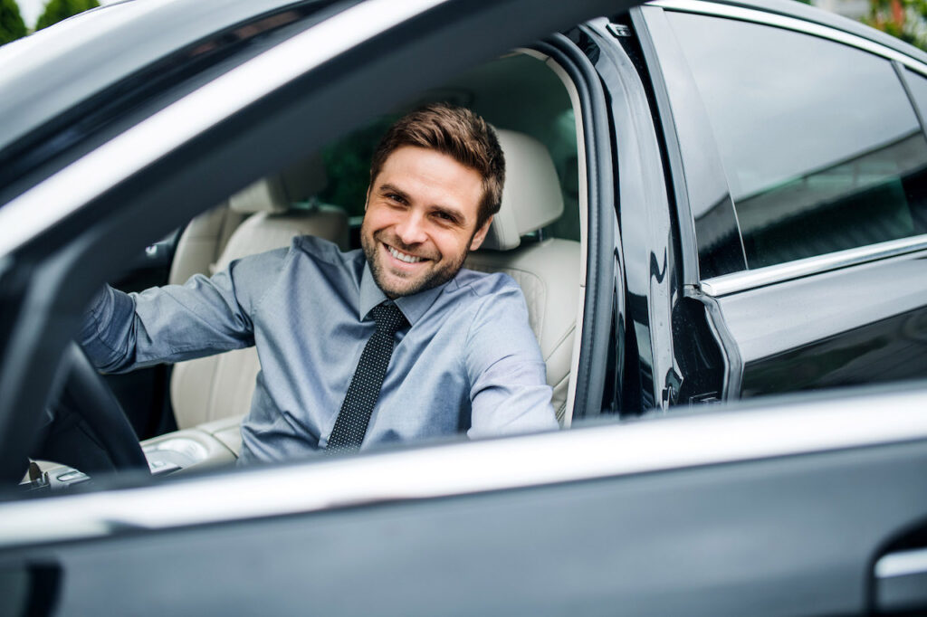 Un autista che sorride.
